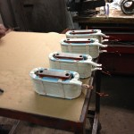 DC Interpoles rewound ready for varnish tank